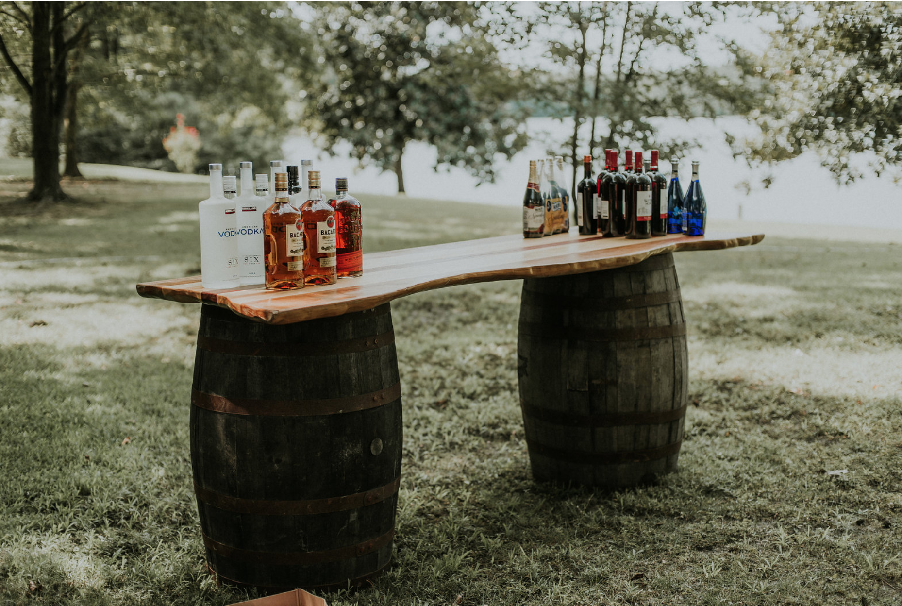 Poplar Whiskey Barrel Bar